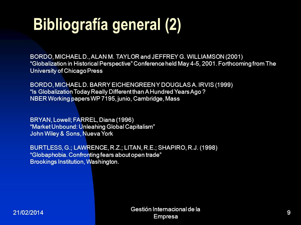 Bibliografía general (2)