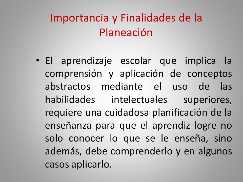 Importancia y Finalidades de la Planeación