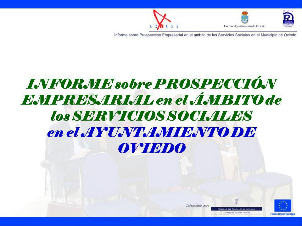 INFORME sobre PROSPECCIÓN EMPRESARIAL en el ÁMBITO de los SERVICIOS SOCIALES en el AYUNTAMIENTO DE OVIEDO