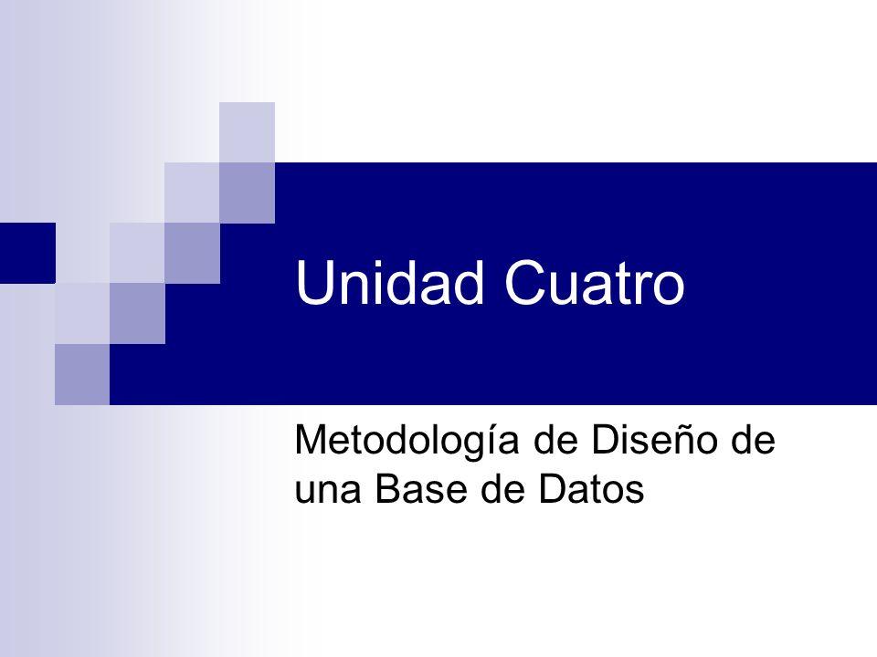 Metodología de Diseño de una Base de Datos