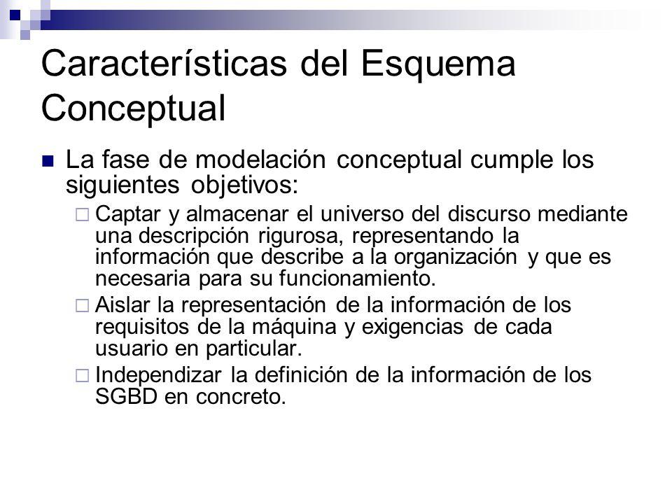 Características del Esquema Conceptual