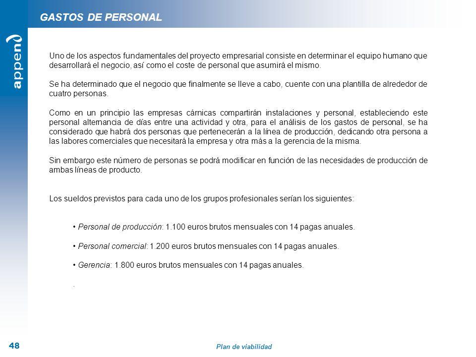 GASTOS DE PERSONAL