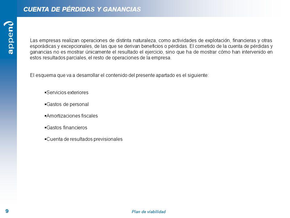 CUENTA DE PÉRDIDAS Y GANANCIAS