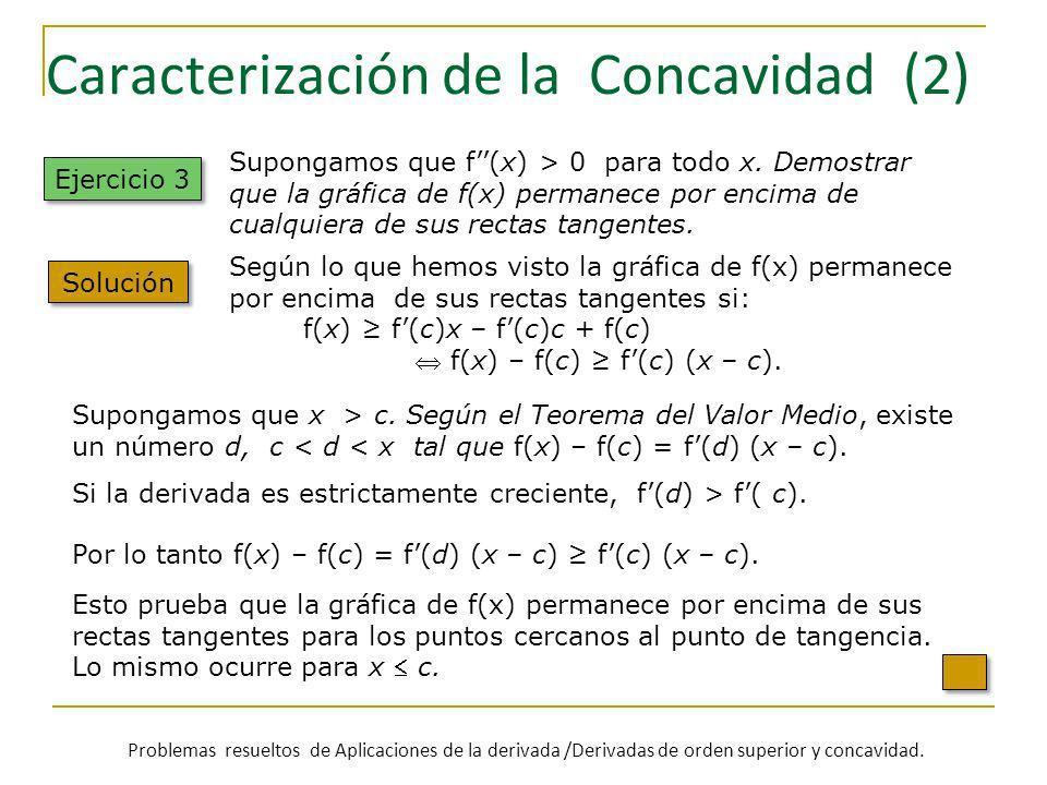 Caracterización de la Concavidad (2)