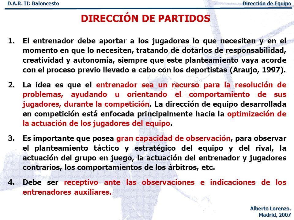 DIRECCIÓN DE PARTIDOS