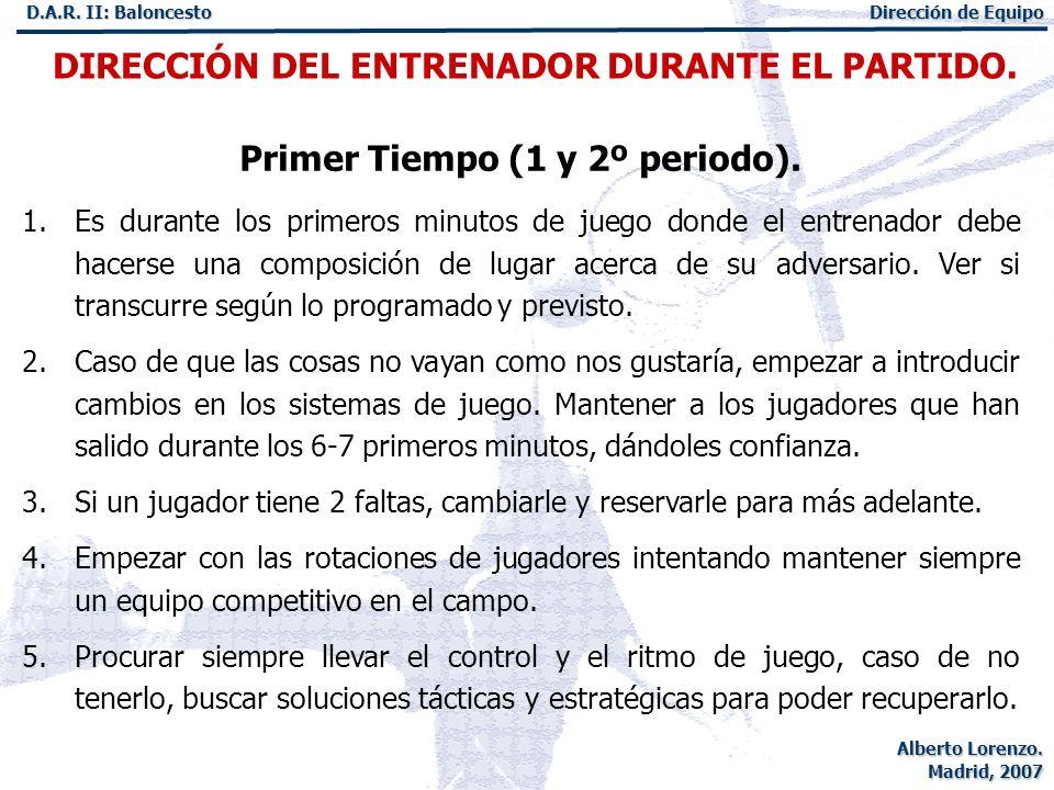 Primer Tiempo (1 y 2º periodo).