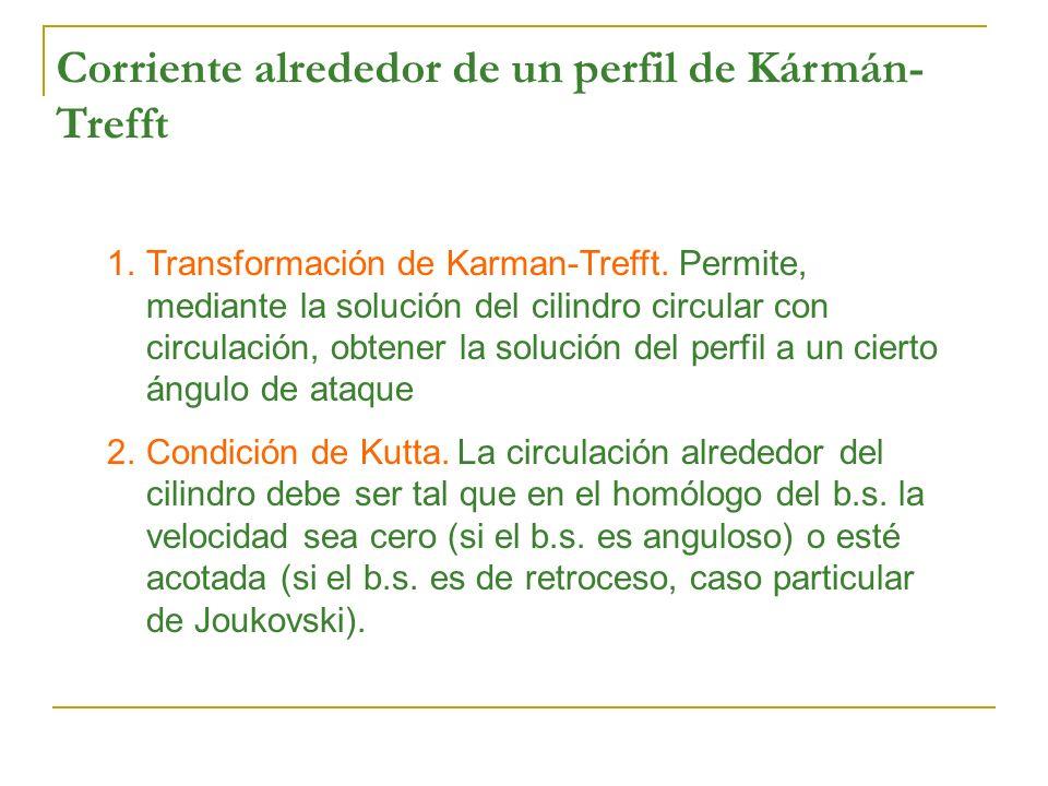 Corriente alrededor de un perfil de Kármán-Trefft