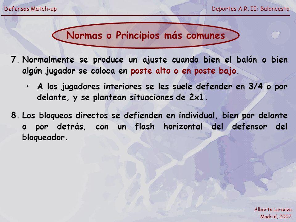 Normas o Principios más comunes
