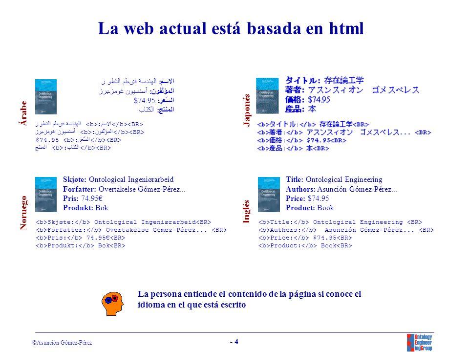 La web actual está basada en html