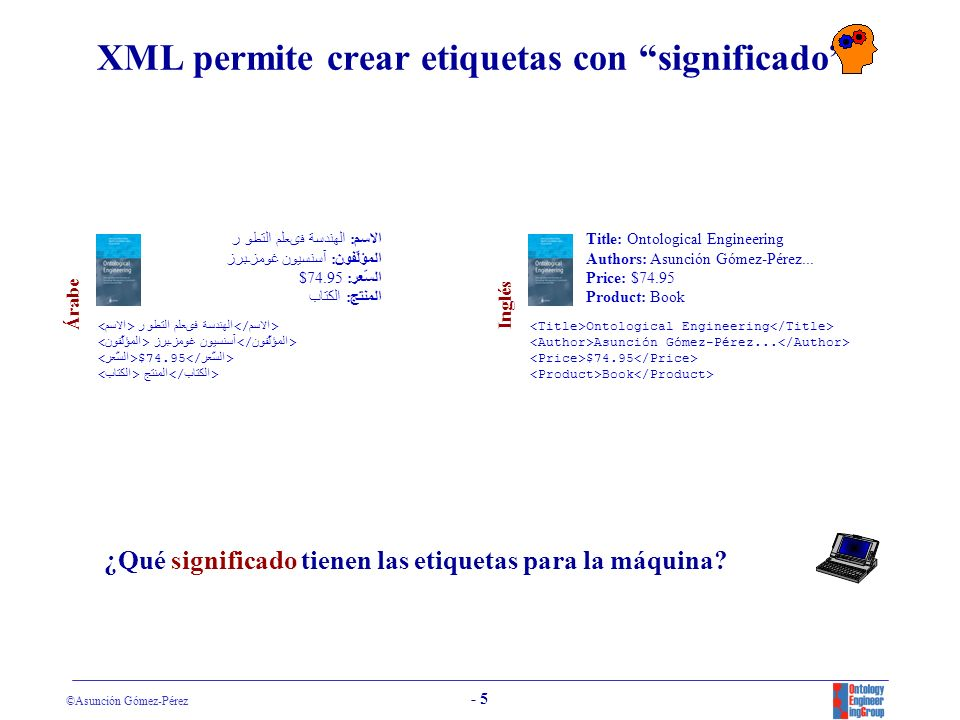 XML permite crear etiquetas con significado
