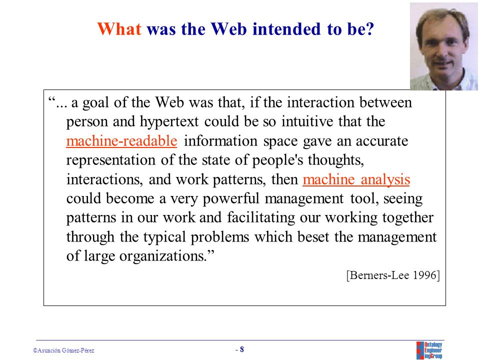 What was the Web intended to be