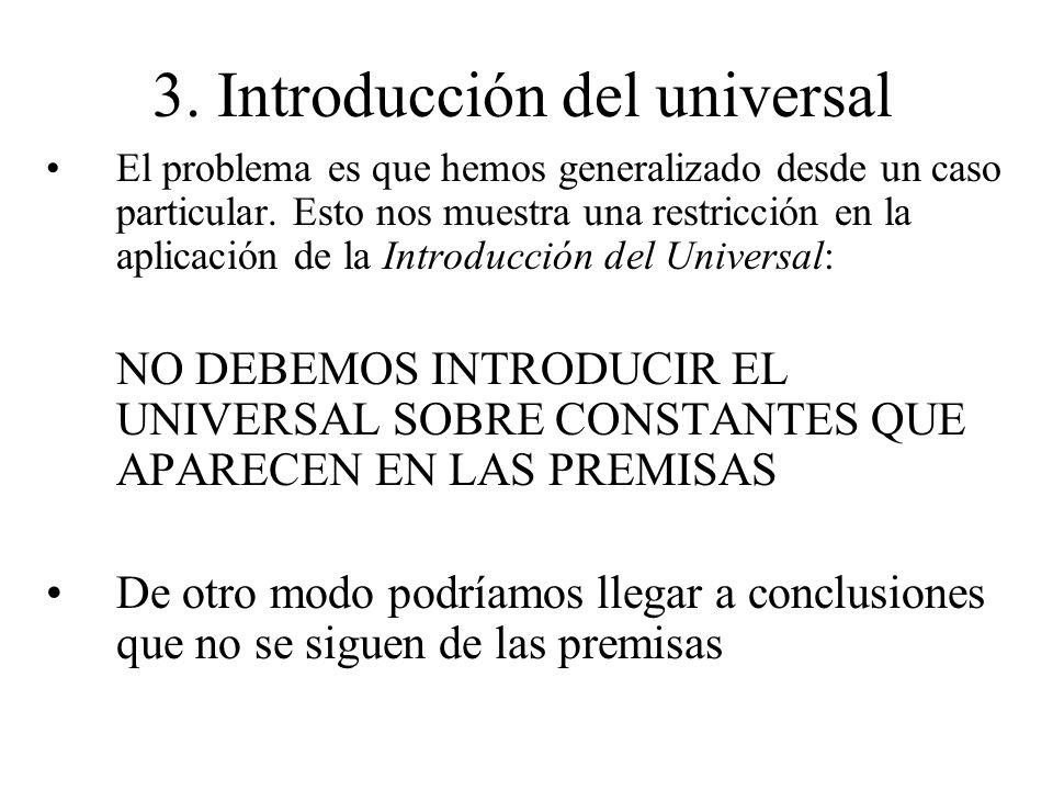 3. Introducción del universal