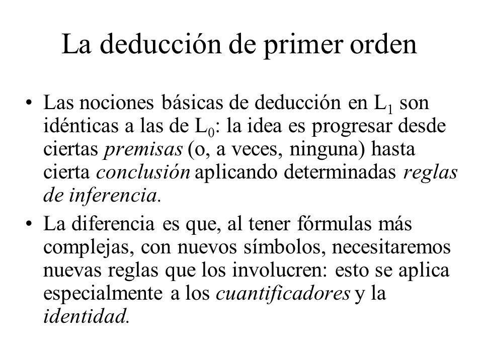 La deducción de primer orden