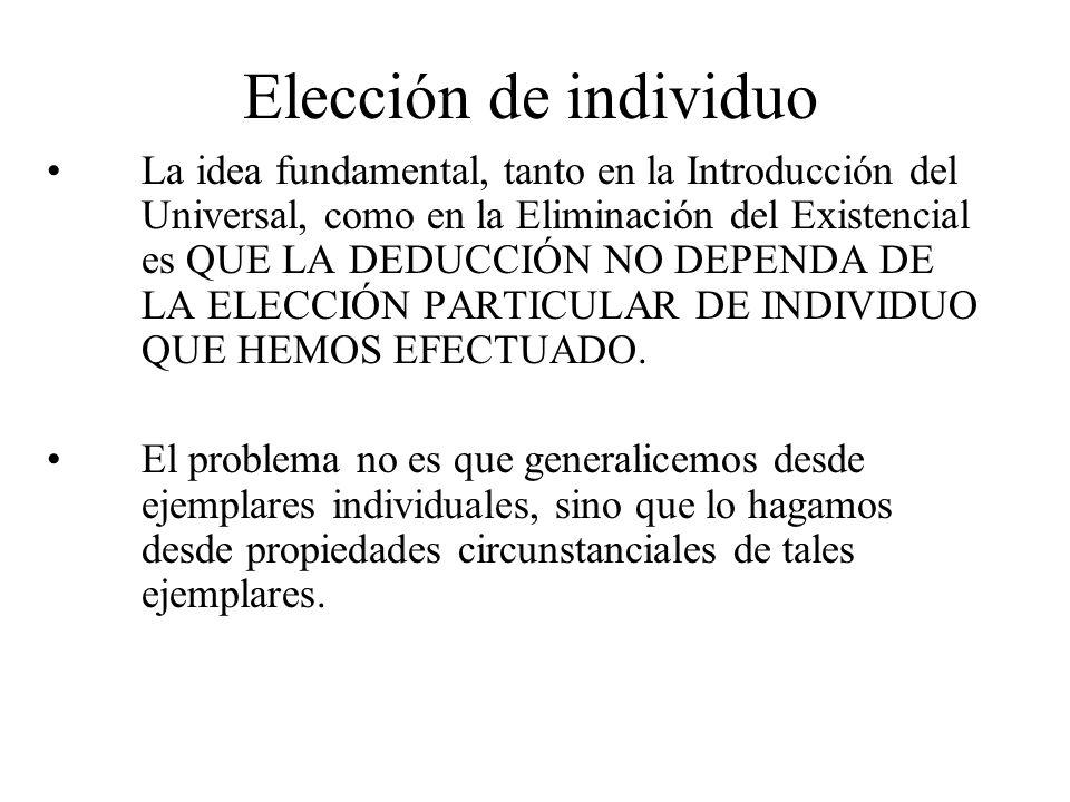 Elección de individuo