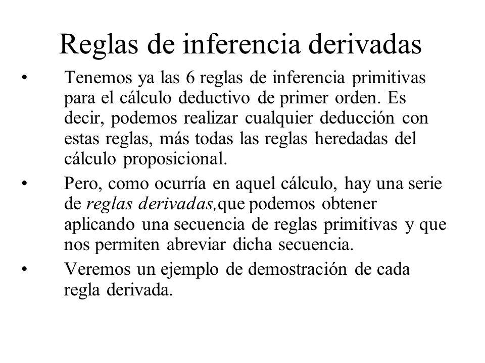 Reglas de inferencia derivadas