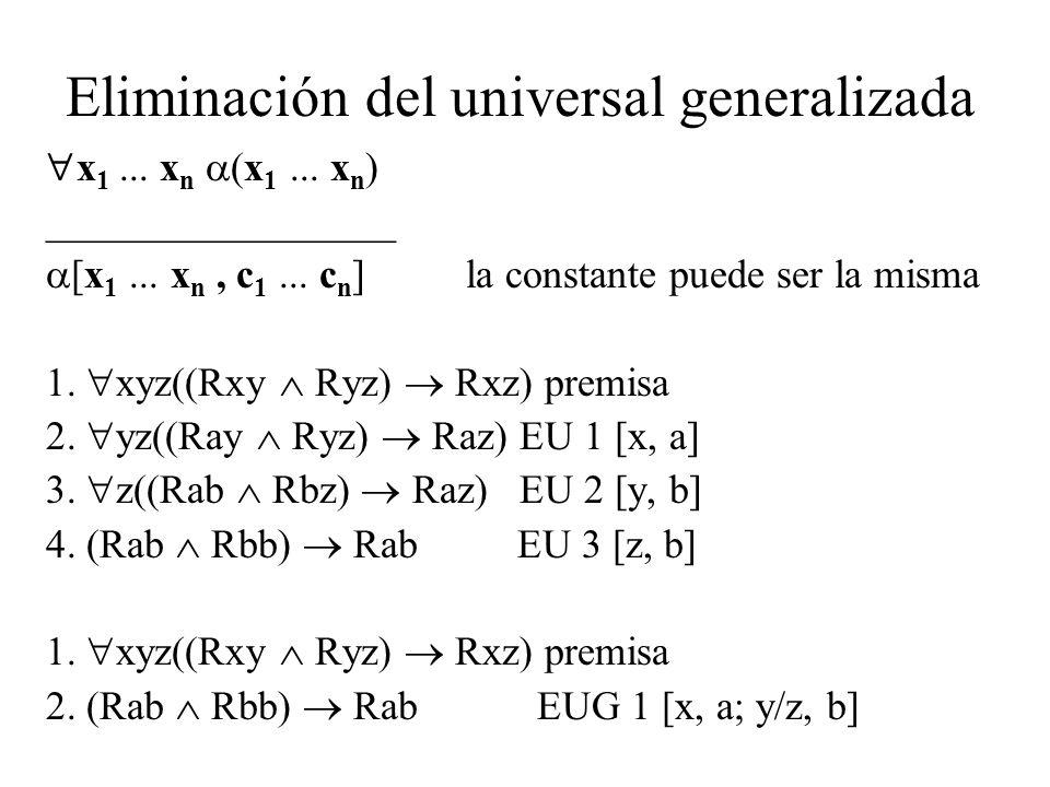 Eliminación del universal generalizada