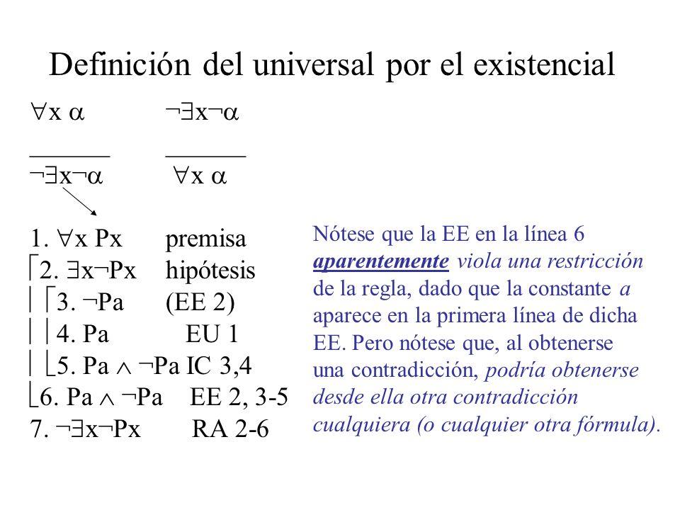 Definición del universal por el existencial