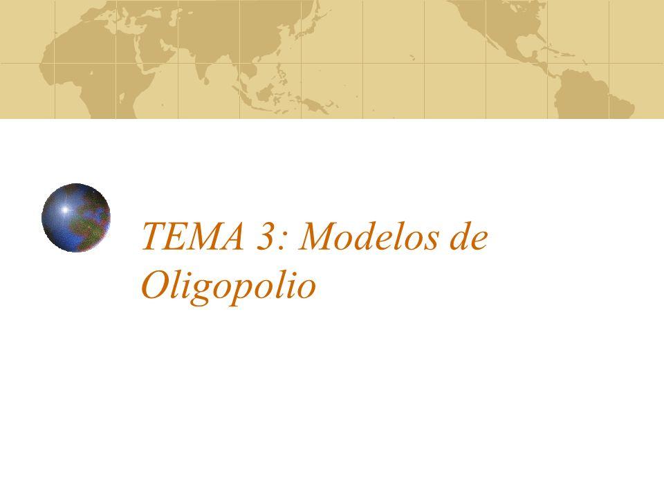 TEMA 3: Modelos de Oligopolio