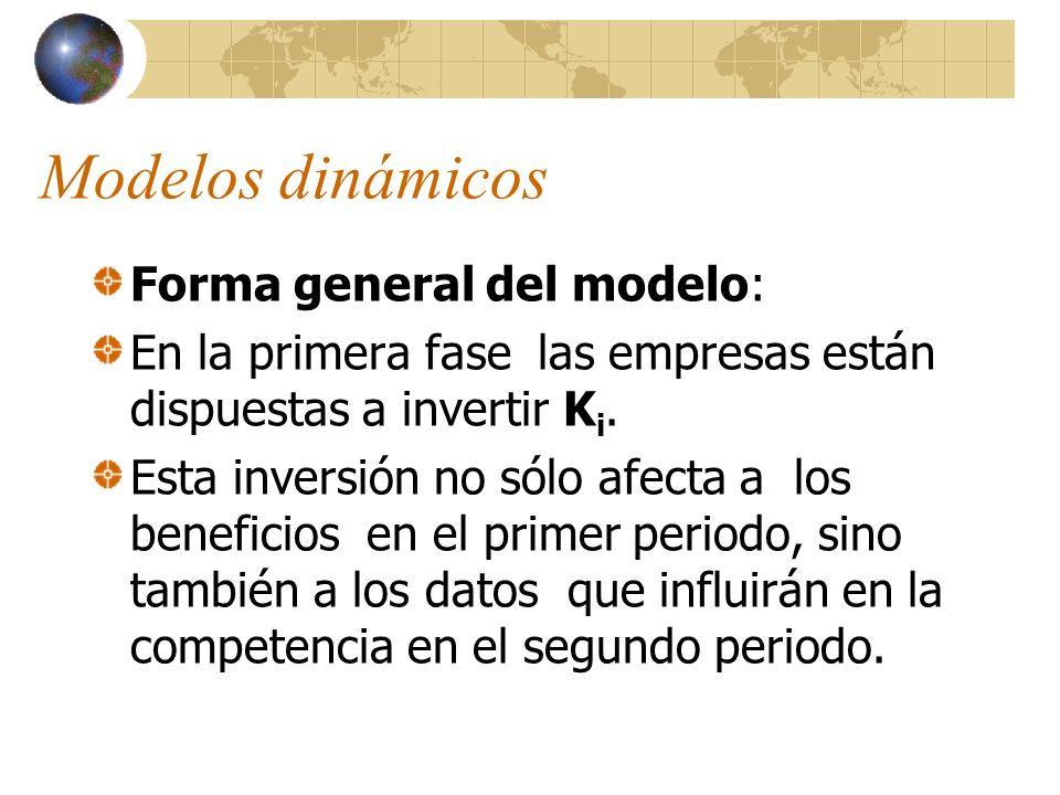Modelos dinámicos Forma general del modelo: