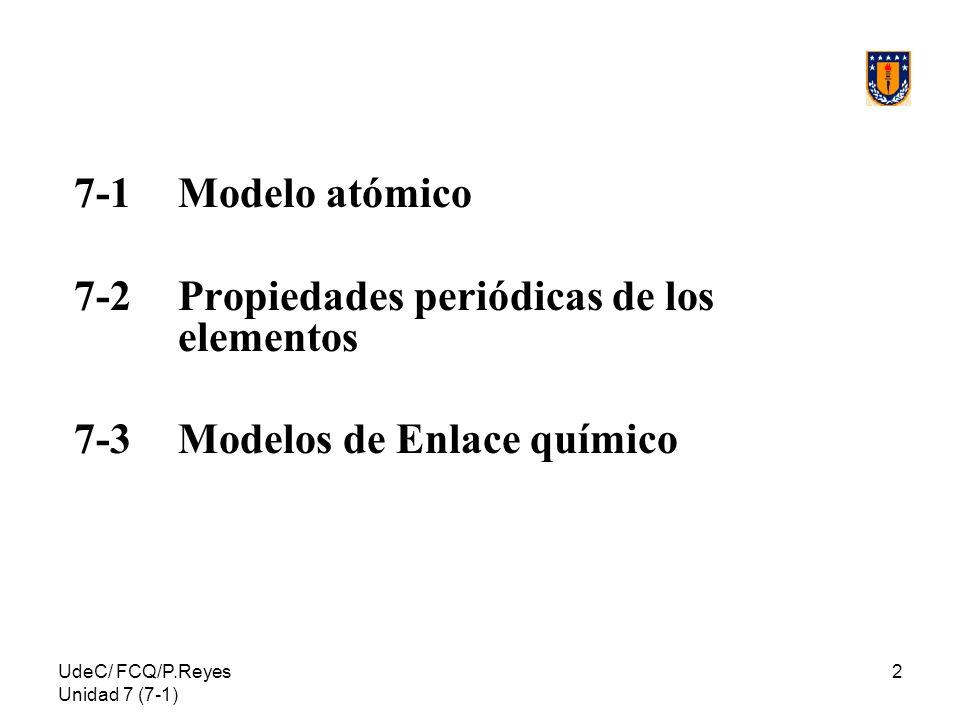 7-2 Propiedades periódicas de los elementos