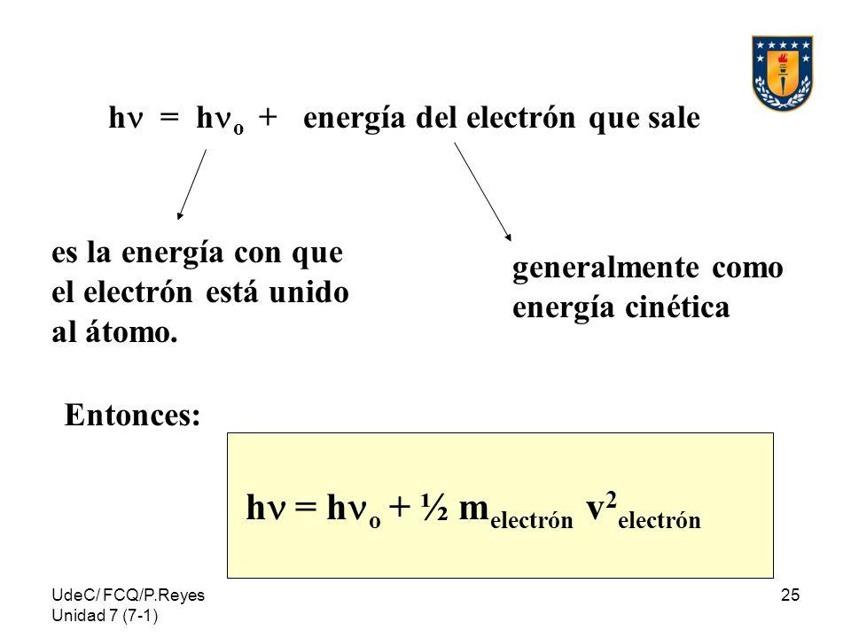 hn = hno + ½ melectrón v2electrón