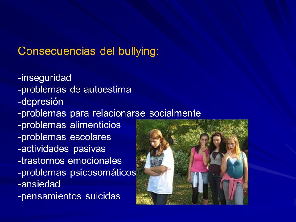 Consecuencias del bullying: