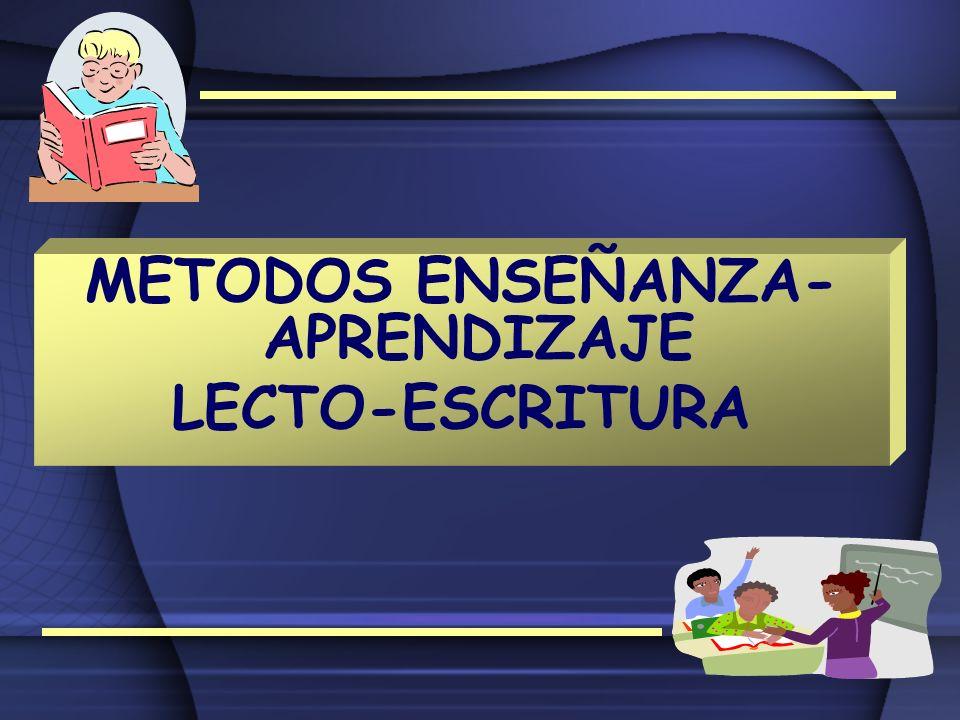 METODOS ENSEÑANZA-APRENDIZAJE