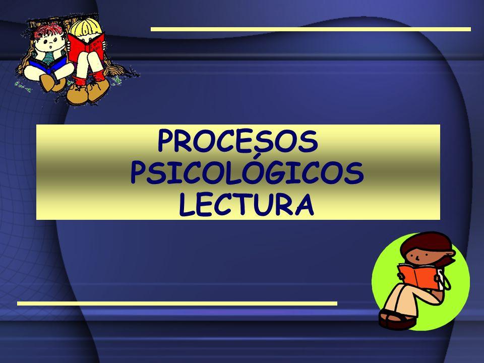 PROCESOS PSICOLÓGICOS LECTURA