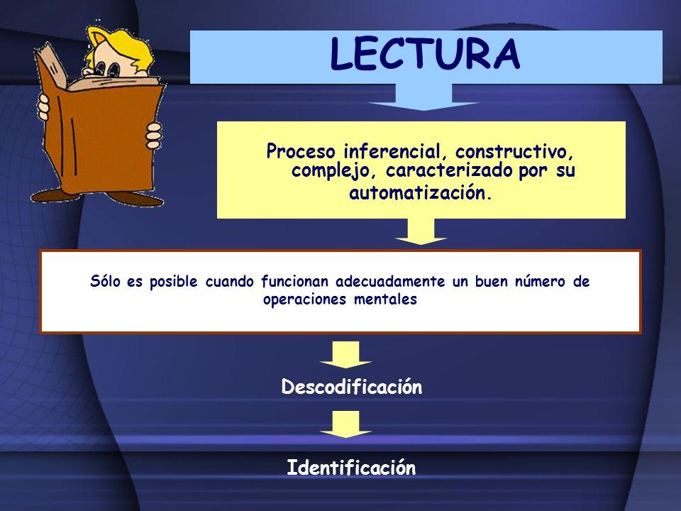 Proceso inferencial, constructivo, complejo, caracterizado por su