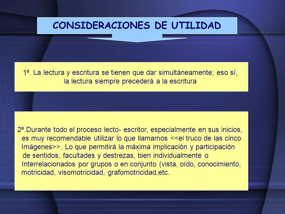 CONSIDERACIONES DE UTILIDAD