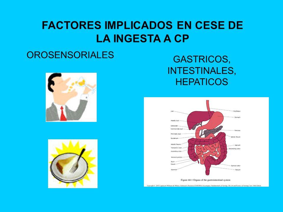 FACTORES IMPLICADOS EN CESE DE LA INGESTA A CP