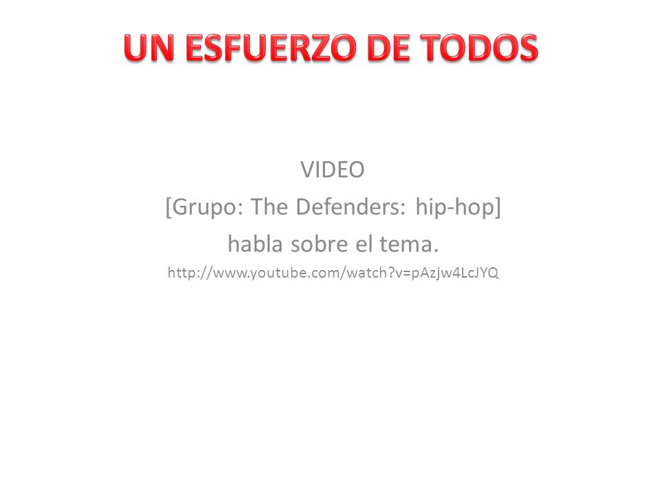 [Grupo: The Defenders: hip-hop]