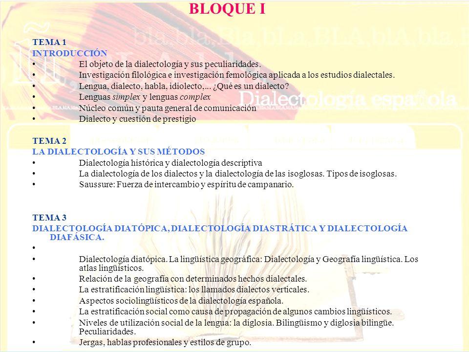BLOQUE I TEMA 1 INTRODUCCIÓN