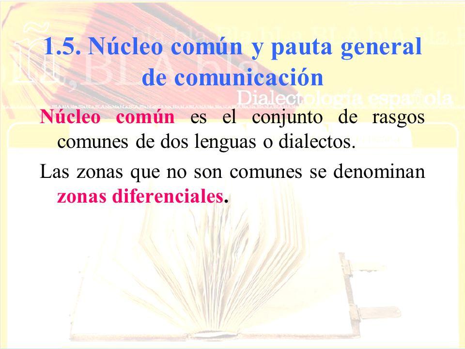 1.5. Núcleo común y pauta general de comunicación