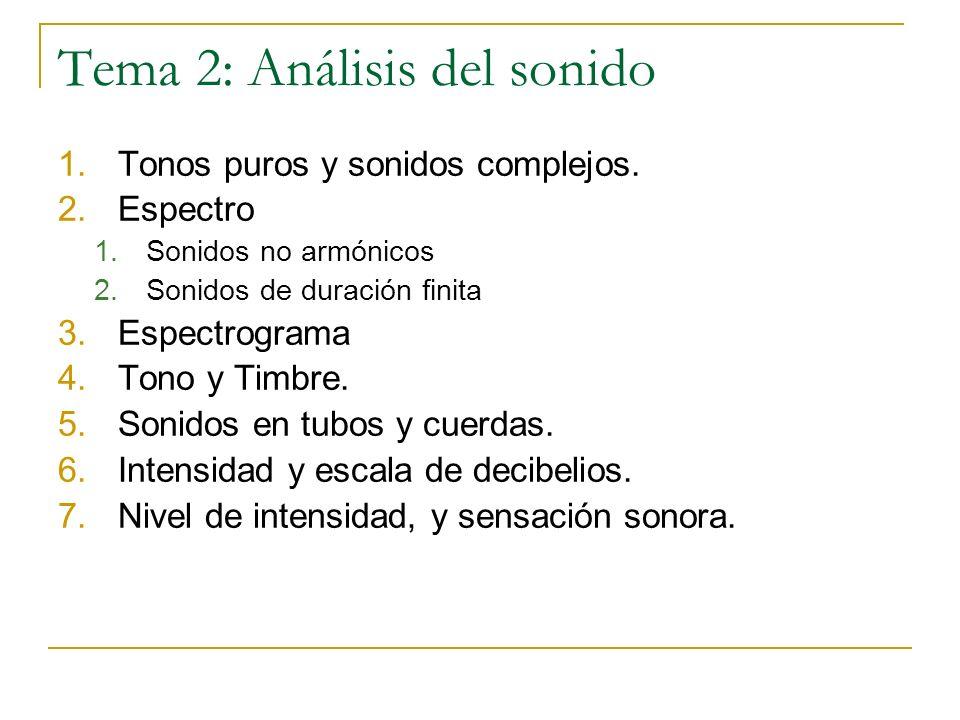 Tema 2: Análisis del sonido