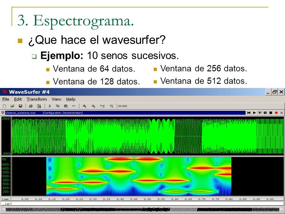 3. Espectrograma. ¿Que hace el wavesurfer