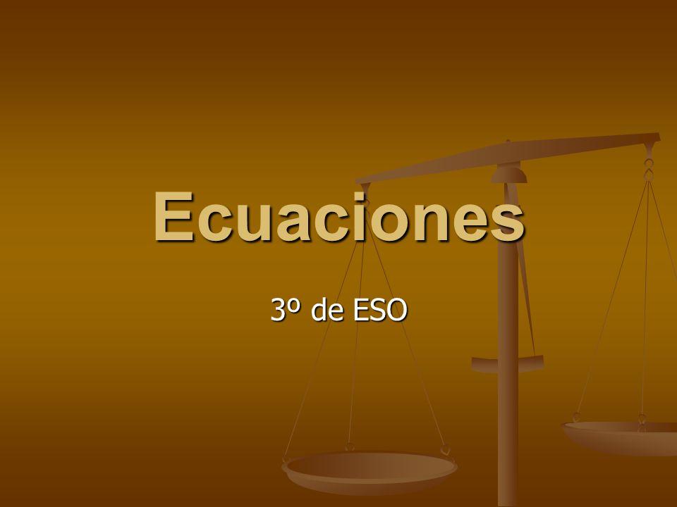 Ecuaciones 3º de ESO