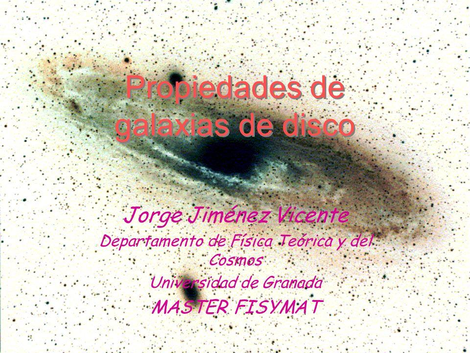 Propiedades de galaxias de disco