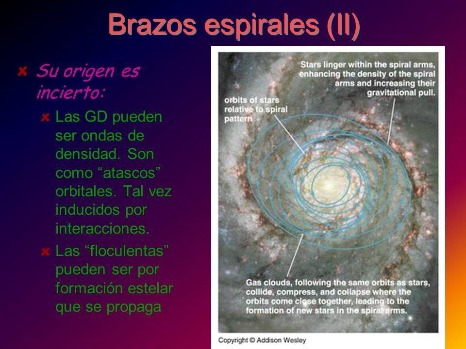 Brazos espirales (II) Su origen es incierto:
