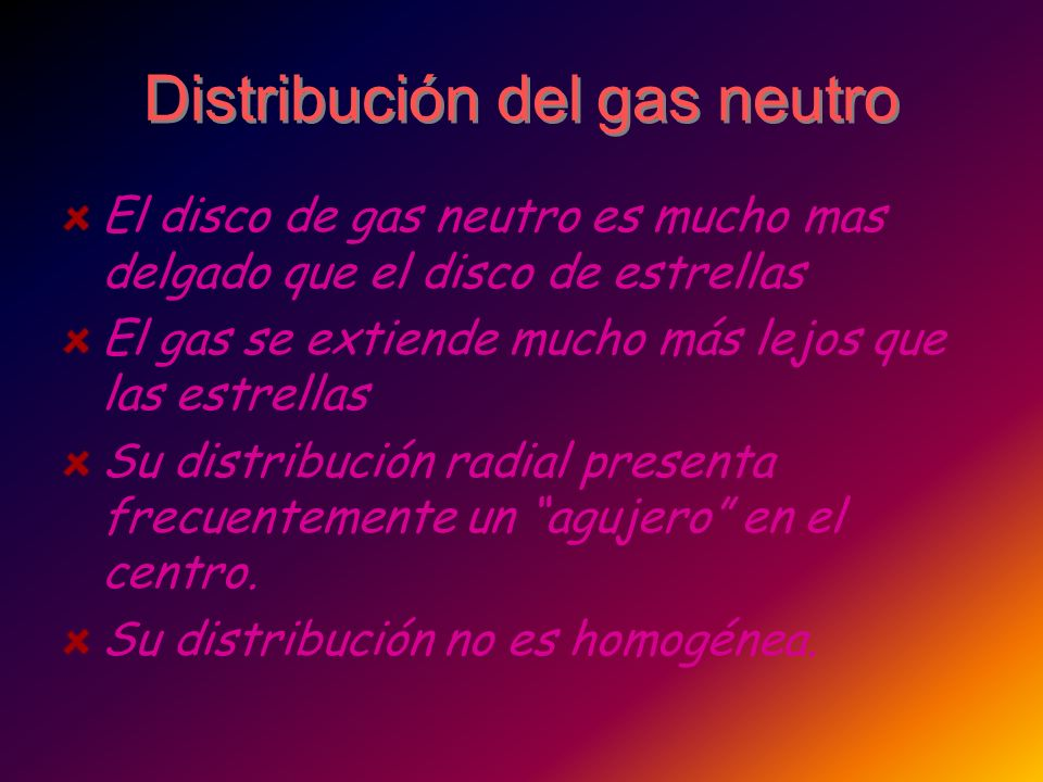 Distribución del gas neutro