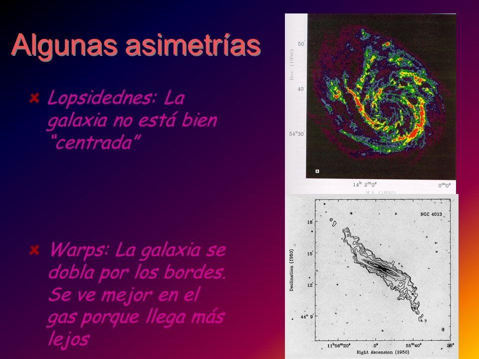Algunas asimetrías Lopsidednes: La galaxia no está bien centrada
