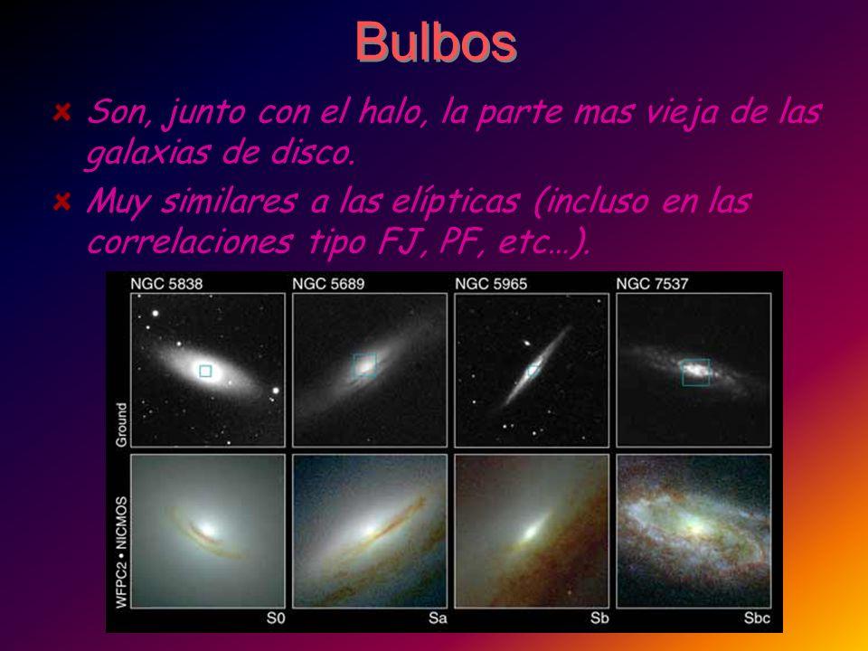 Bulbos Son, junto con el halo, la parte mas vieja de las galaxias de disco.