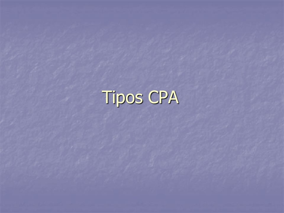 Tipos CPA