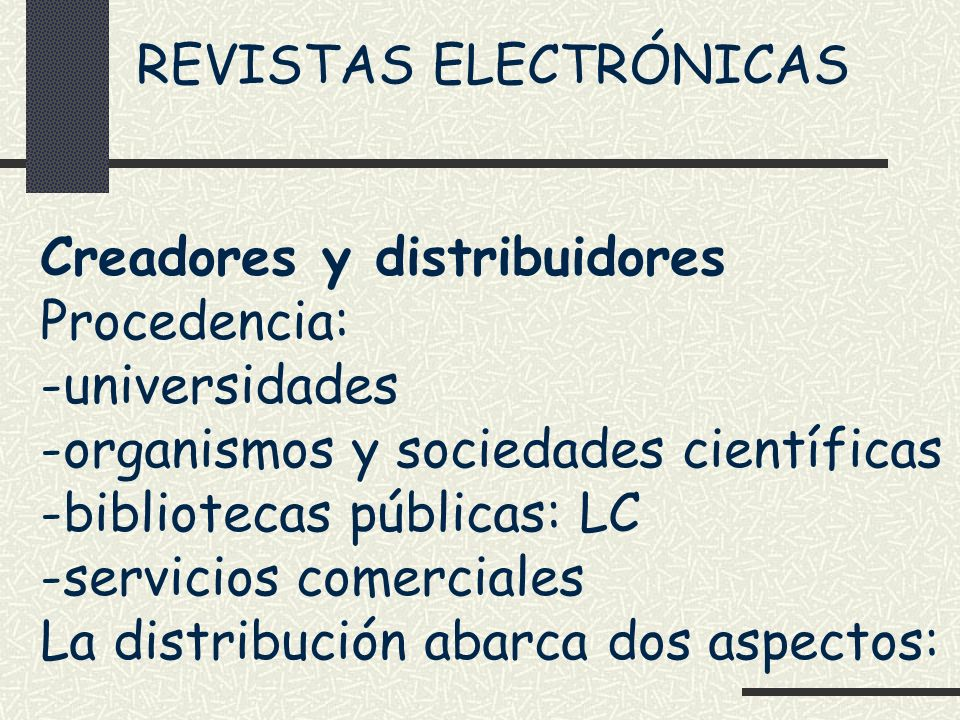 REVISTAS ELECTRÓNICAS