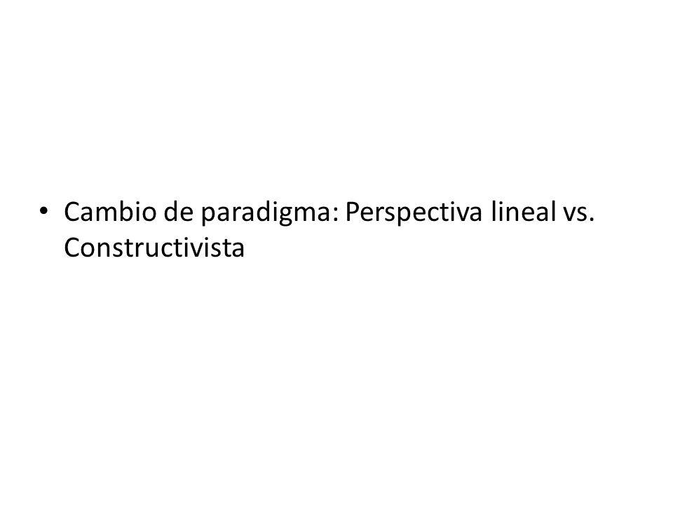 Cambio de paradigma: Perspectiva lineal vs. Constructivista