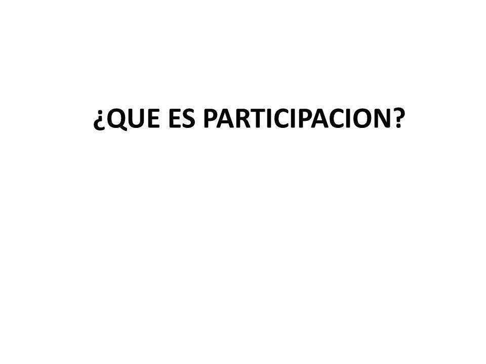 ¿QUE ES PARTICIPACION