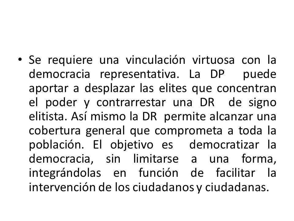 Se requiere una vinculación virtuosa con la democracia representativa
