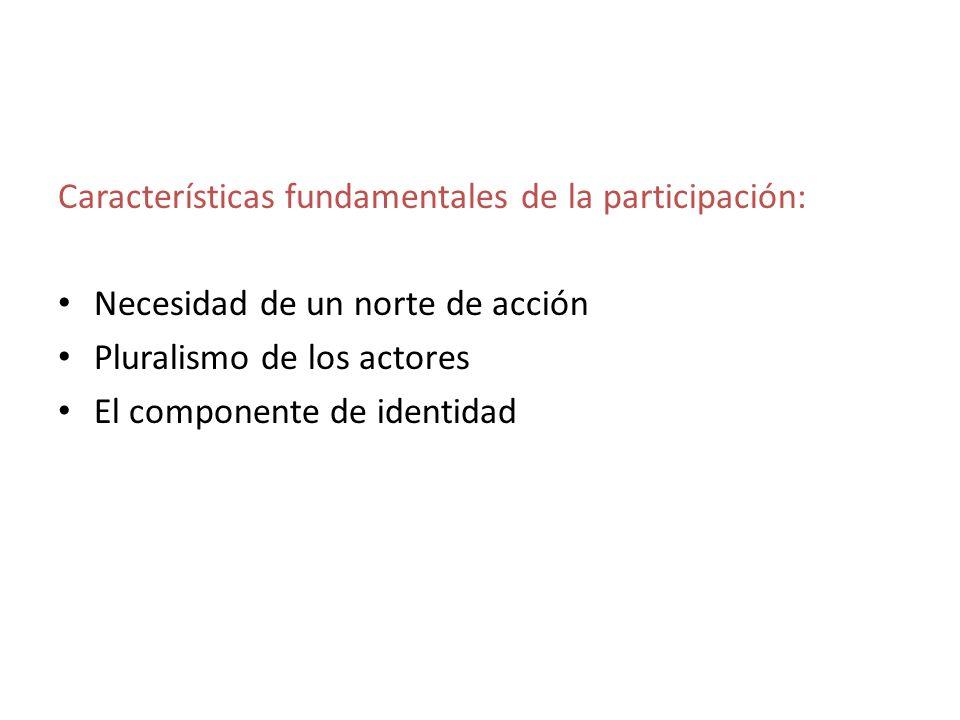 Características fundamentales de la participación: