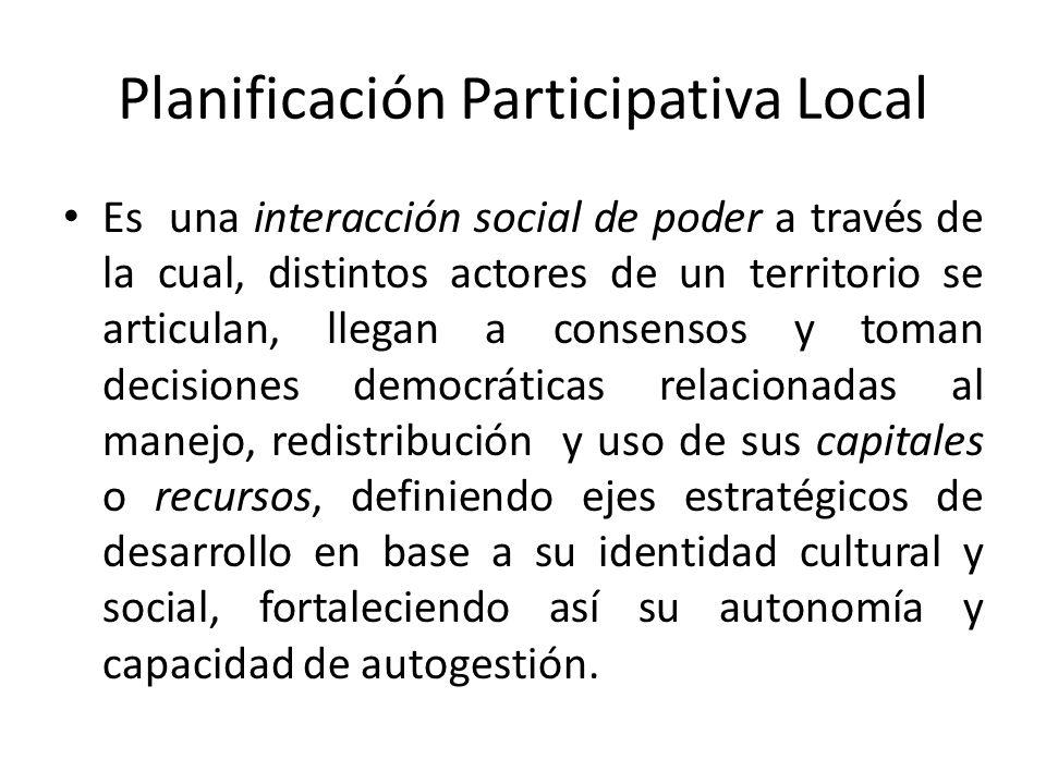 Planificación Participativa Local