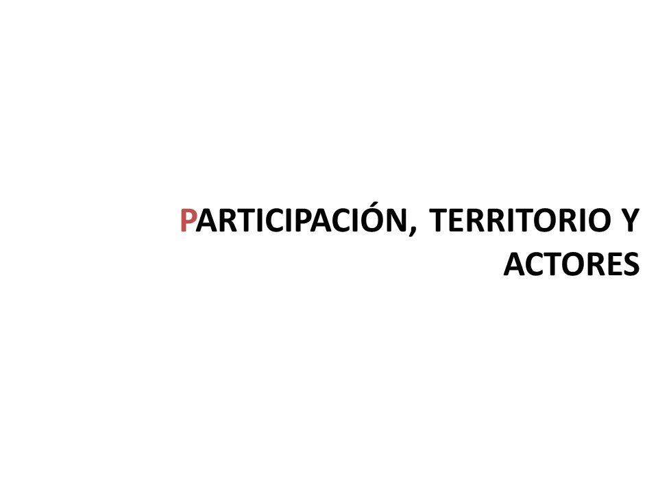 PARTICIPACIÓN, TERRITORIO Y ACTORES